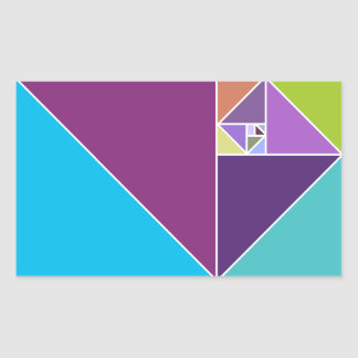 De gouden Verhouding Rechthoekvormige Sticker