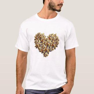 De gouden Vernietigde T-shirt van Kokarden Hart