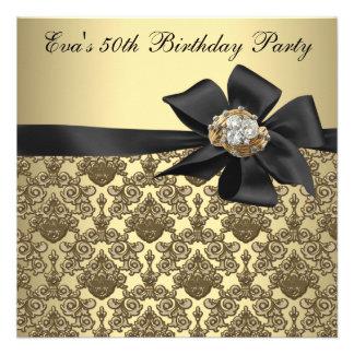 De gouden Zwarte Partij van de Verjaardag van het Aankondigingen