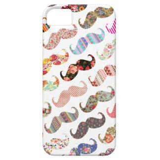 De grappige Kleurrijke Snorren van Patronen Girly iPhone 5 Hoesjes
