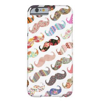 De grappige Kleurrijke Snorren van Patronen Girly Barely There iPhone 6 Hoesje