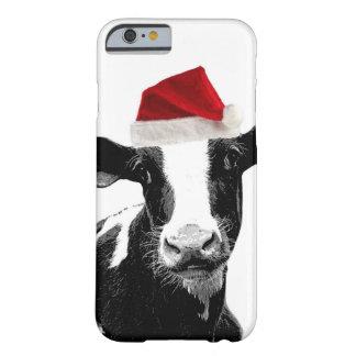 De grappige Koe van de Kerstman van Kerstmis Barely There iPhone 6 Hoesje
