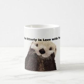 De grappige Otter van de Dag van Valentijn Koffiemok
