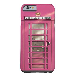De grappige Roze Britse Gepersonaliseerde Doos van Barely There iPhone 6 Hoesje
