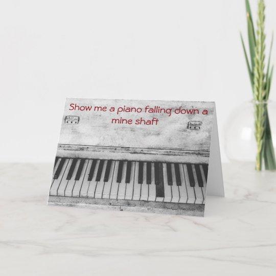 De Grappige Verjaardag Van De Grap Van De Piano Kaart Zazzle Be