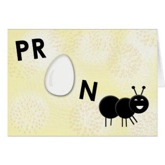De grappige Zwangere Kaart van de Aankondiging van