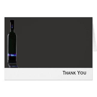 De grijze en Zwarte Zaken van de Fles van de Wijn Kaart