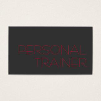 De grijze Rode Persoonlijke Sport van de Fitness Visitekaartjes