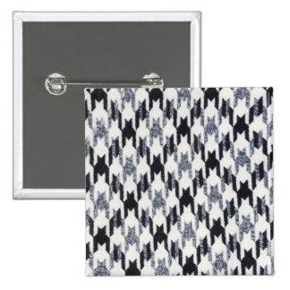 De grijze & Zwarte Moderne Textuur van de Stof Speld Buttons