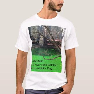 De Groene Rivier van Chicago voor St. Patrick Dag T Shirt