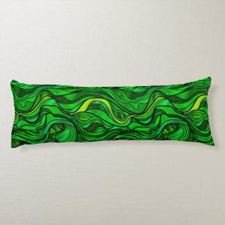 De groene Samenvatting van het Gebrandschilderd Lichaamskussen