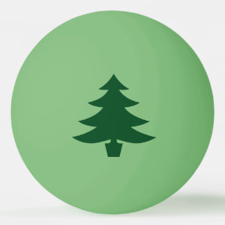 De groene Vorm van de Kerstboom op Groen Pingpongballetjes