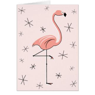 De groetenkaart van de Verjaardag van de flamingo Kaart