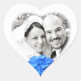 De hart Gevormde Sticker van het Huwelijk van de