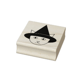 De heks-Kat van de cartoon de RubberZegel van het Rubberstempel