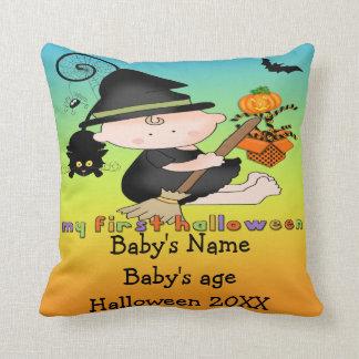 De Heks van het baby Mijn 1st Halloween werpt Sierkussen