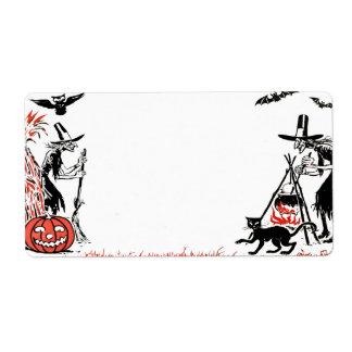 De Heksen van Halloween etiketteren Etiket