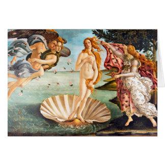 De herstelde en Geboorte van Recolored Botticelli Kaart
