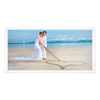 De het huwelijksfoto van PixDezines dankt u Persoonlijke Fotokaart