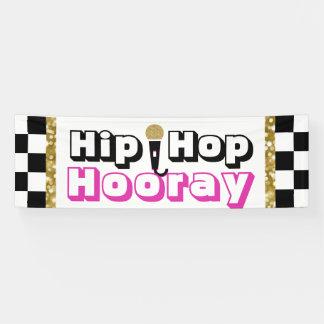 De hip hop bannière de baby shower hourra {fille}