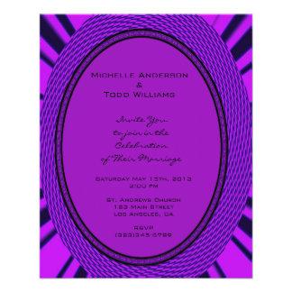 De hip Paarse Samenvatting van het Huwelijk Fullcolor Folder