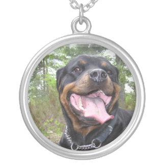 De Hond Neckalce van Rottweiler Zilver Vergulden Ketting