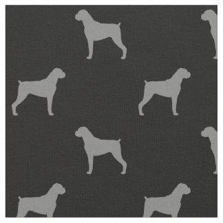 De Hond van de bokser silhouetteert Patroon - Stof
