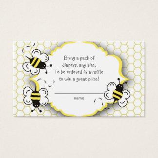De honing of stuntelt het kaartje van de