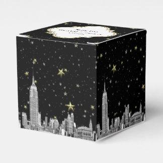 De Horizon NYC etste de Sterrige Kleur van DIY BG Bedankdoosjes