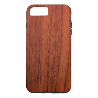 De Houten Druk van het mahonie iPhone 8 Plus / 7 Plus Hoesje