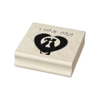 De houten Kunst Stamps/I houdt van u Rubberstempel