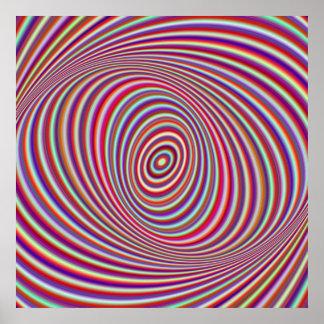De hypnose van het neon poster