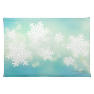 De illustratie van de rooster van gloeiende sneeuw placemats