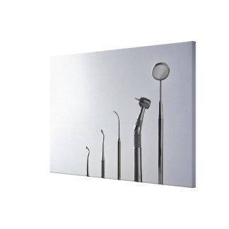 De instrumenten van de tandarts canvas afdrukken