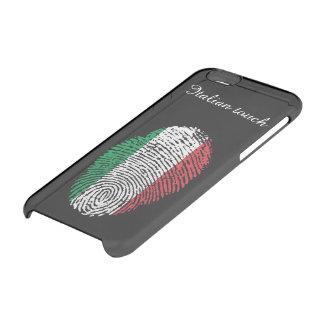 De Italiaanse vlag van de aanrakingsvingerafdruk Doorzichtig iPhone 6/6S Hoesje