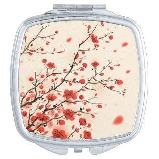 De Japanse Compacte Spiegel van de Bloesem van de Make-up Spiegel