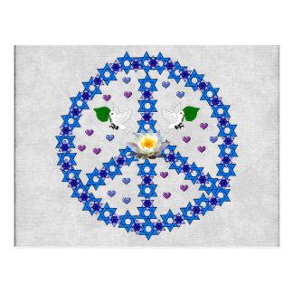 De Jodenster van de vrede Briefkaart