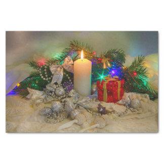 De kaars van Kerstmis Tissuepapier