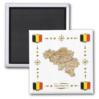 De Kaart van België + De Magneet van vlaggen