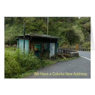 De Kaart van de adreswijziging: Kleurrijk Nieuw