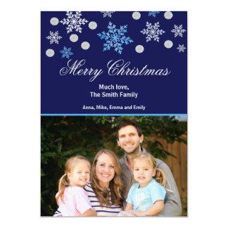 De Kaart van de Foto van de Groet van Kerstmis 12,7x17,8 Uitnodiging Kaart
