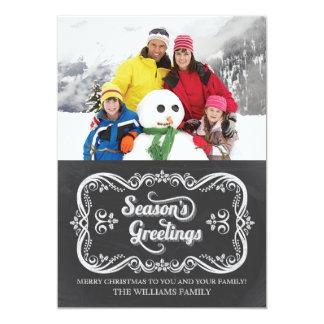 De Kaart van de Foto van de Vakantie van Kerstmis 12,7x17,8 Uitnodiging Kaart