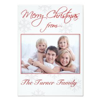 De Kaart van de Foto van Kerstmis 12,7x17,8 Uitnodiging Kaart