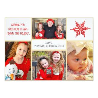 De Kaart van de Foto van Kerstmis - de Voorzijde & 12,7x17,8 Uitnodiging Kaart