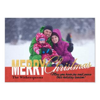 De Kaart van de Foto van Kerstmis met Inspirerend 12,7x17,8 Uitnodiging Kaart