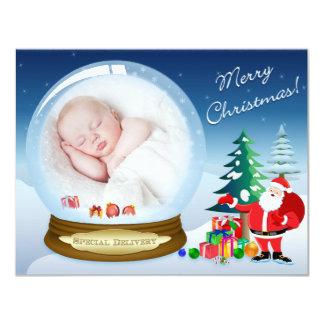 De Kaart van de Foto van Kerstmis van het 10,8x13,9 Uitnodiging Kaart