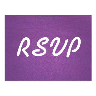 De Kaart van de lavendel RSVP