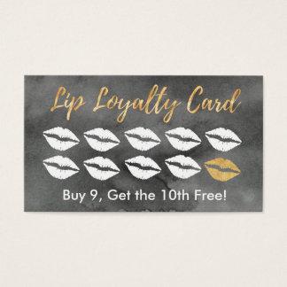 De Kaart van de Loyaliteit van de lip Visitekaartjes