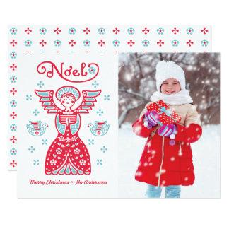 De Kaart van de Vakantie van de Foto van Kerstmis 12,7x17,8 Uitnodiging Kaart