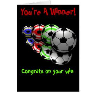 De Kaart van het Voetbal van gelukwensen